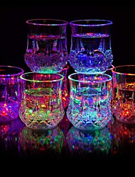 cheap -1pc Night Light Creative LED Light Cup with Automatic Flash Drink Cup Plastic Cup with Color Variation Whiskey Glass Bar Party Supplies