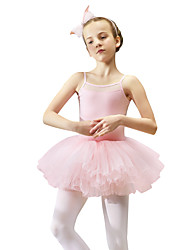 cheap -Ballet Dresses Girls' Training / Performance Tulle Cascading Ruffles Sleeveless Dress / Tutus