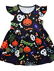 cheap -Toddler Girls' Geometric Dress Black