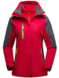 cheap -Women's Hiking 3-in-1 Jackets Hiking Jacket Winter Outdoor Patchwork Waterproof Windproof Breathable Warm Jacket Top Camping / Hiking / Caving Traveling Black / Violet / Fuchsia / Orange / Navy Blue