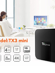 Недорогие -tx3 мини андроид 7.1 тв коробка умный телевизор h2.65 iptv 4k iptv медиаплеер amlogic s905w 1 г 8 г коробка tanix