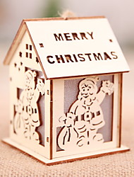 cheap -Christmas Ornaments Holiday Wooden House Shaped Cartoon Christmas Decoration