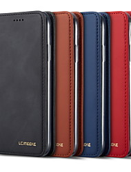 cheap -lc.imeeke Leather Case For Apple iPhone 12 / iPhone 11 Pro / iPhone 11 Pro Max Wallet / Card Holder / Flip Full Body Cases Solid Colored PU Leather