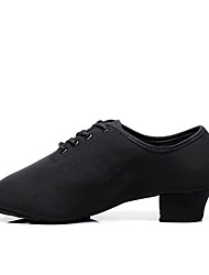 cheap -Women's Dance Shoes Canvas Jazz Shoes Heel Thick Heel Customizable Black