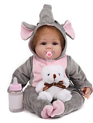 cheap -NPK DOLL 20 inch Reborn Doll Reborn Toddler Doll Baby Boy Baby Girl Safety Gift Cute Cloth 3/4 Silicone Limbs and Cotton Filled Body with Clothes and Accessories for Girls' Birthday and Festival Gifts