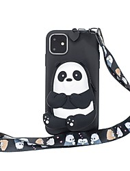 cheap -Case For Apple iPhone 11 / iPhone 11 Pro / iPhone 11 Pro Max Wallet / Pattern Back Cover 3D Cartoon TPU