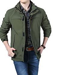 cheap -Men's Hoodie Jacket Hiking Jacket Winter Outdoor Waterproof Windproof Breathable Warm Jacket Top Climbing Camping / Hiking / Caving Traveling Army Green / Dark Blue / Khaki