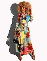 cheap -Women's Elegant A Line Dress - Geometric Light Blue S M L XL