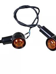 abordables -2pcs rétro moto clignotant noir avant clignotant moteur indicateur clignotants