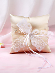 cheap -Cloth Lace Nonwovens Ring Pillow Garden Theme / Pillow / Wedding All Seasons