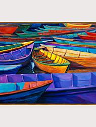 cheap -Framed Art Print Framed Set - Abstract Landscape PS Oil Painting Wall Art