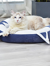 cheap -Dog Cat Pets Bed Beds Pet Mats & Pads Plush Fabric Plush Black Blue Pink