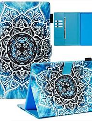 Недорогие -чехол для huawei mediapad m3 lite 10 / mediapad m5 10 (профессиональный) кошелек / визитница / флип чехлы для тела цветок pu кожа / тпу для huawei mediapad m5 10