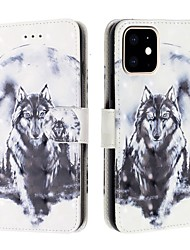 cheap -Case For Apple iPhone 11 / iPhone 11 Pro / iPhone 11 Pro Max Wallet / Card Holder / Flip Full Body Cases Animal PU Leather