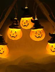 cheap -2m Pumpkin String Lights 10 LED Pumpkin Hat Halloween Decorative Cute Decoration 1pc