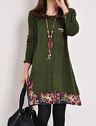 cheap -Women's Daily Wear Basic A Line Dress - Geometric Black Orange Army Green M L XL XXL