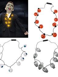 abordables -lanterne citrouille crâne halloween conduit lueur la lumière dans le parti sombre collier faveurs