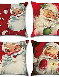 cheap -Christmas series hand-painted Santa Claus themed linen pillowcases