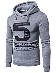 cheap -Men's Hoodie Solid Colored Hooded Basic Slim White Black Light gray US32 / UK32 / EU40 US34 / UK34 / EU42 US36 / UK36 / EU44 US40 / UK40 / EU48