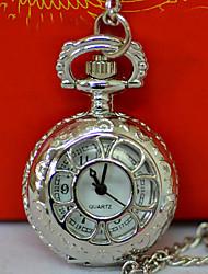 cheap -Men's Pocket Watch Quartz Vintage Style Silver Creative New Design Casual Watch Analog - Digital Vintage - Silver