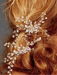 cheap -Crystal / Alloy Hair Combs / Headpiece with Crystal 2pcs Wedding Headpiece