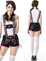 cheap -Oktoberfest Beer Outfits Dirndl Trachtenkleider Women's Blouse Dress Pants Bavarian Costume Black / Hat / Hat