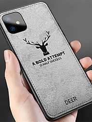 cheap -Cloth Fabric Deer Phone Case For iphone 11 Pro / iphone 11 Pro Max / iphone 11 Soft Silicone TPU Back Case For iphone XS Max XR XS X 8 Plus 8 7 Plus 7 6 Plus 6 Covers