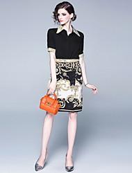 abordables -Femme Chemise - Géométrique Jupe