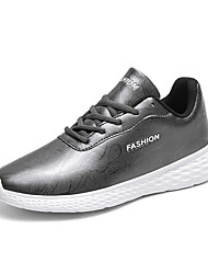 cheap -Men's Comfort Shoes Nappa Leather Fall Athletic Shoes Walking Shoes Black / Black / White / Gray