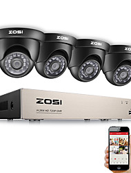 cheap -ZOSI HD-TVI 720P DVR 8 Channel CCTV System Video Surveillance DVR KIT with 4PCS 1280TVL 720P Home Security 8ch Camera System