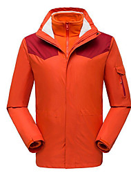 cheap -Men's Women's Hiking Jacket Winter Outdoor Patchwork Waterproof Windproof Warm Comfortable Jacket Top Camping / Hiking / Caving Traveling Black / Orange / Green / Red / Blue