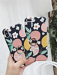 cheap -Case For Apple iPhone XS / iPhone XR / iPhone XS Max Ring Holder / Pattern Back Cover Food PC