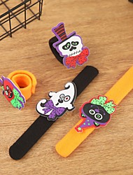cheap -Halloween Cartoon Pumpkin Hand Ring Slap / Clap Bracelet Decoration for Children Hand Ring Event Party Supplies