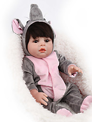 cheap -NPK DOLL 22 inch Reborn Doll Reborn Toddler Doll Baby Boy Baby Girl Safety Gift Cute with Clothes and Accessories for Girls' Birthday and Festival Gifts / Kids