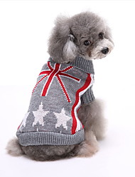 cheap -Dog Sweater Geometric Holiday Christmas Winter Dog Clothes White Red Gray Costume Polyster S M L XL XXL