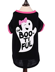 cheap -Dog Halloween Costumes Jumpsuit Geometric Holiday Winter Dog Clothes Black Costume Polyster XS S M L XL