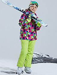 cheap -Girls' Ski Jacket with Pants Skiing Snowboarding Winter Sports Rain Waterproof Warm Skiing POLY Clothing Suit Ski Wear