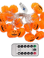 cheap -Halloween String Lights 3m 20LED 3D Jack-O-Lantern Pumpkin USB Powered with 13Keys Remote Control Cute Spooky Halloween Indoor Outdoor Decorations