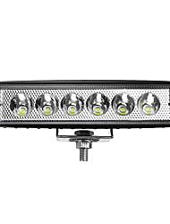 abordables -1pcs 18w 12 / 24v ip65 voiture led spot travaux lumière lampe lampe hors route camion atv bateau camion