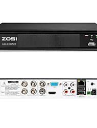 cheap -ZOSI 1080P 4CH TVI Network DVR Motion Detection Free App for CCTV Camera System 4CH 2.0MP Hybrid 4in1 DVR