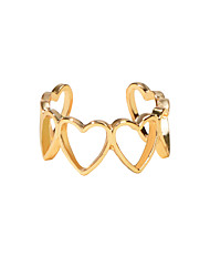 cheap -Women's Ring 1pc Gold Alloy Artistic Luxury Unique Design Wedding Engagement Jewelry Classic Heart Cool Lovely