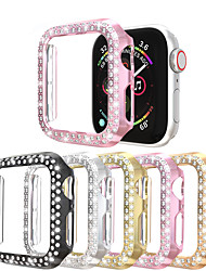 cheap -Double Row Diamonds Watch Case For Apple Watch Series 6 SE 5 4 3 2 1  Case Women Diamond Style Cover For IWatch 40mm/44mm/38mm/42mm Bumper Shell Accessories