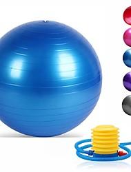 Недорогие -95 см Мяч для упражнений / мяч для йоги Для профессионалов, Взрывозащищенный, Мягкость PVC Поддержка 500 kg С Ножной насос Обучение балансу Для Йога / Пилатес / Фитнес