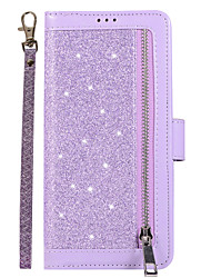 cheap -Case For Samsung Galaxy S9 / S9 Plus / S8 Plus Card Holder / Magnetic / Glitter Shine Full Body Cases Solid Colored / Glitter Shine PU Leather / TPU