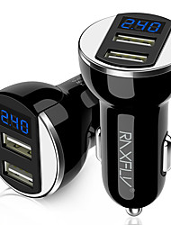 cheap -Car Charger A Tow Two Digital Display 5V 2A Car Charger Electrical GPS Navigator Universal Charging Head