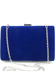 cheap -Women's Chain Velvet Evening Bag Solid Color Black / White / Purple