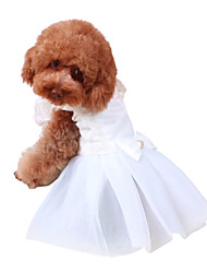 cheap -Dogs Dress Dog Clothes White Costume Polyster Solid Colored Wedding M L XL