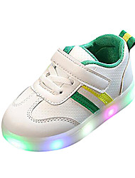cheap -Girls' Sneakers LED / LED Shoes PU LED Shoes Little Kids(4-7ys) / Big Kids(7years +) Walking Shoes LED / Luminous Black / Red / Green Spring / Summer / Rubber