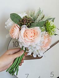 Недорогие -Искусственные Цветы 10 Филиал Классический Свадьба Свадебные цветы Розы Пионы Светло-голубой