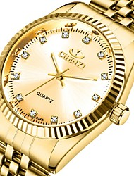 Недорогие -CHENXI® Муж. Нарядные часы Кварцевый Формальный Стильные Нержавеющая сталь Золотистый 30 m Защита от влаги Фосфоресцирующий Аналоговый Роскошь Мода - Золотистый Золотой + черный Золотой + белый